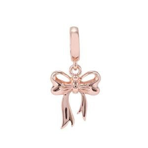 Bow Kama Charms in Rose Gold Plated Sterling Silver