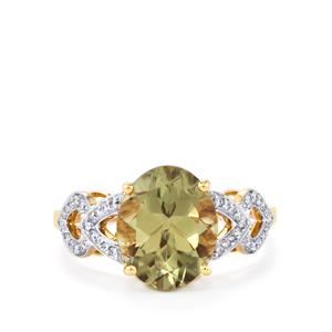 Csarite® Ring with Diamond in 18k Gold 3.74cts