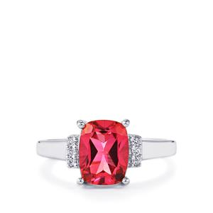 2.43ct Mystic Pink & White Topaz Sterling Silver Ring