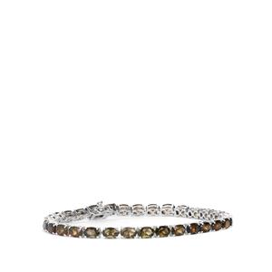 Moldavite Bracelet in Sterling Silver 10.92cts