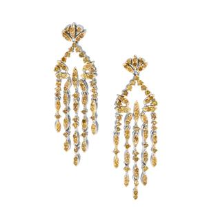 1.50ct Yellow Diamond Sterling Silver Earrings