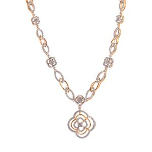 Diamond Necklace in Gold Plated Sterling Silver 1ct
