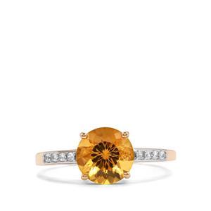 Marialite & White Zircon 10K Gold Ring ATGW 1.72cts