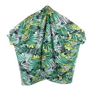 Tropical Print Destello Poncho (Green)