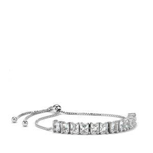 2.92ct Aquamarine Sterling Silver Slider Bracelet