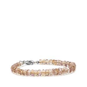 43.50ct Mato Grosso Ametrine Sterling Silver Graduated Bead Bracelet