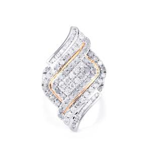 2ct Diamond Two Tone Midas Ring