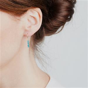 Neon Apatite Earrings in 9K Gold 0.96ct