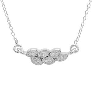 Diamond Sterling Silver Necklace