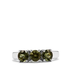Moldavite Ring in Sterling Silver 1.27cts