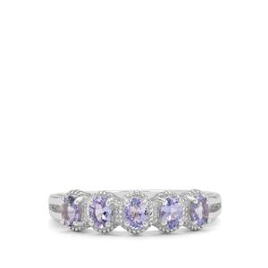 Tanzanite Ring in Sterling Silver 0.75ct