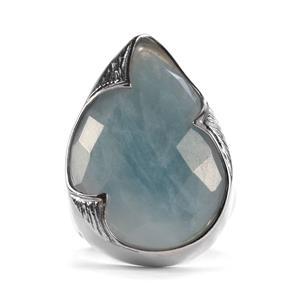 24.55ct Aquamarine Sterling Silver Sarah Bennett Ring