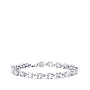 11.34ct White Topaz Sterling Silver Bracelet