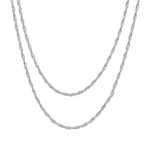 """18"""" Sterling Silver Couture Bunch of tow Cordino Chain 3.20g"""