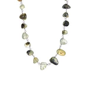 170.00ct Prehnite Sterling Silver  Necklace