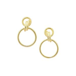 Earrings in Gold Plated Sterling Silver