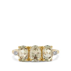 Csarite® Ring with Diamond in 9K Gold 2.55cts