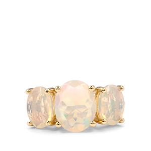 Ethiopian Opal Ring in 10k Gold 3.05cts