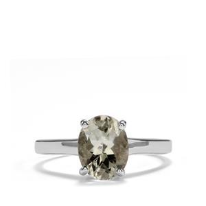 1.62ct Prasiolite Sterling Silver Ring