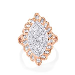 1.20ct Diamond 9K Rose Gold Tomas Rae Ring