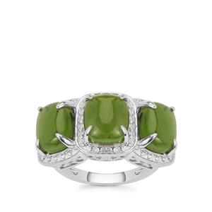 Canadian Nephrite Jade Ring in Sterling Silver 6.95cts