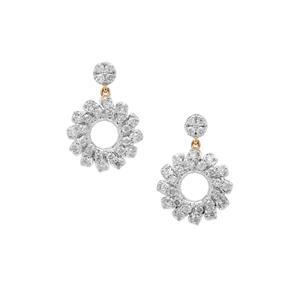 Argyle Diamond Earrings in 9K Gold 0.76ct