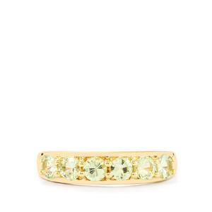 0.88ct Merelani Mint Garnet 10K Gold Ring