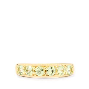Merelani Mint Garnet Ring in 10k Gold 0.88cts