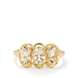 2.14ct Goshenite 9K Gold Ring