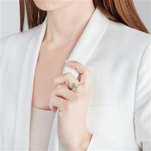 Ultraviolet Color Change Garnet Ring in 10k Gold 1.40cts