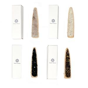 Gem Auras Gold Coloured Hair Clip with Clear Quartz (CQ), Rose Quartz (RQ), Tigers Eye (TE) or Black Obsidian (OB) ATGW 75cts