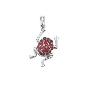 Malagasy Ruby & Thai Sapphire Sterling Silver Pendant ATGW 0.62cts (F)