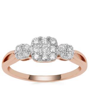Argyle Diamond Ring in 18K Rose Gold 0.34ct