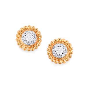Diamond Earrings in 10k Rose Gold 0.25ct