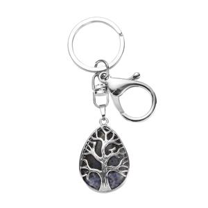 18.15ct Sodalite Tree of Life Key fob