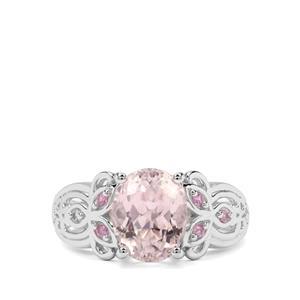 Kolum Kunzite & Sakaraha Pink Sapphire Sterling Silver Ring ATGW 3.85cts