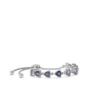 7.96ct Mystic Blue Topaz Sterling Silver Bracelet