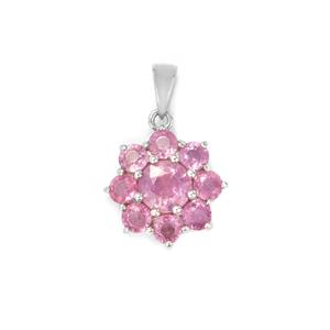 Ilakaka Hot Pink Sapphire Pendant in Sterling Silver 3.12cts (F)