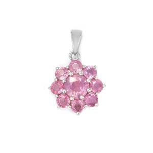 3.12ct Ilakaka Hot Pink Sapphire Sterling Silver Pendant (F)