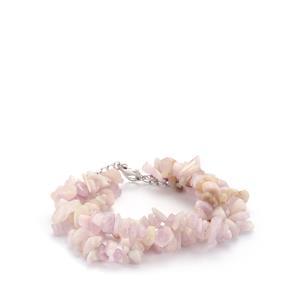 185.60ct Kunzite Sterling Silver Bead Bracelet