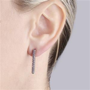 Pink Sapphire Bridge Earrings in Sterling Silver 0.76cts