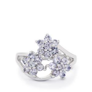 1.50ct Tanzanite Sterling Silver Ring