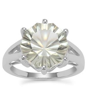 Prasiolite Ring in Sterling Silver 6.10cts