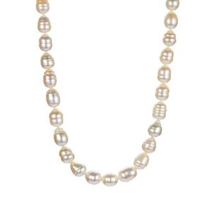 South Sea Cultured Pearl Necklace in Sterling Silver (8.50 x 8mm)