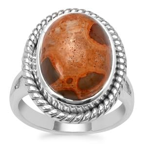 Mexican Jasper Ring in Sterling Silver 8.57cts