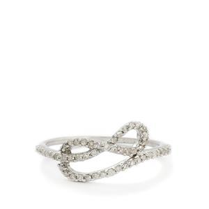 1/5ct Diamond 9K White Gold Ring