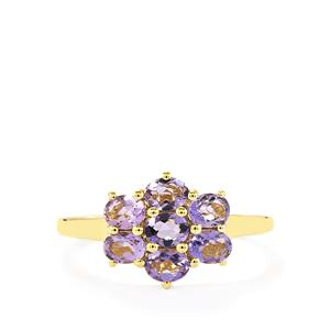 Purple Scapolite Ring  in 10k Gold 1.00cts
