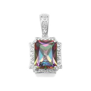 Mystic Pendant with White Topaz in Sterling Silver 2.87cts