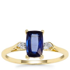 Nilamani Ring with Diamond in 9K Gold 1.32cts