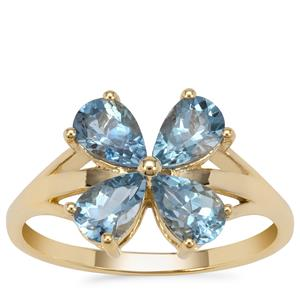 Nigerian Aquamarine Ring in 9K Gold 1.45cts